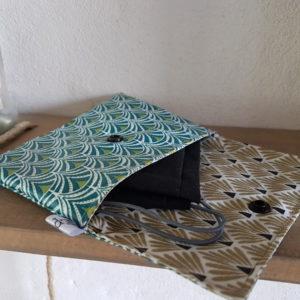 Pochette de protection pour masque lavable